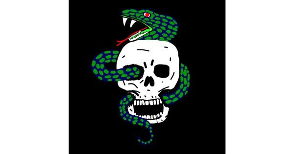 Snake drawing by MaRi