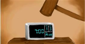 Drawing of Alarm clock by Alpha