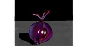 Onion drawing by Mitzi