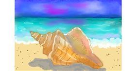 Seashell drawing by Debidolittle