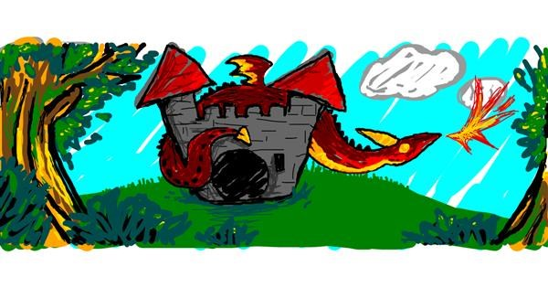 Castle drawing by Nan