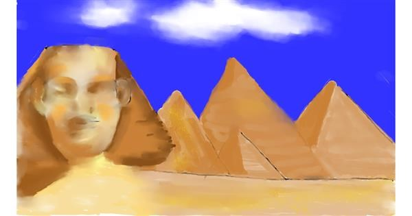 Sphinx drawing by Cec