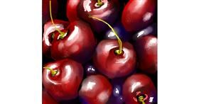 Cherry drawing by Elliev