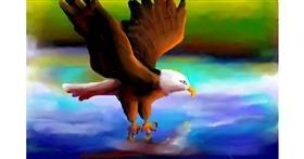 Eagle drawing by Sirak Fish