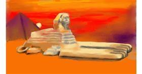 Sphinx drawing by SAM AKA MARGARET 🙄