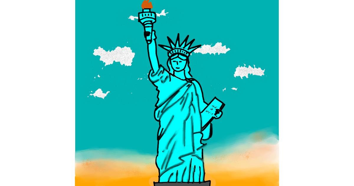 Statue of Liberty drawing by Dreamer
