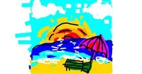 Beach drawing by Kiwi