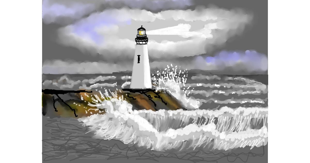 Drawing of Lighthouse by SAM AKA MARGARET 🙄