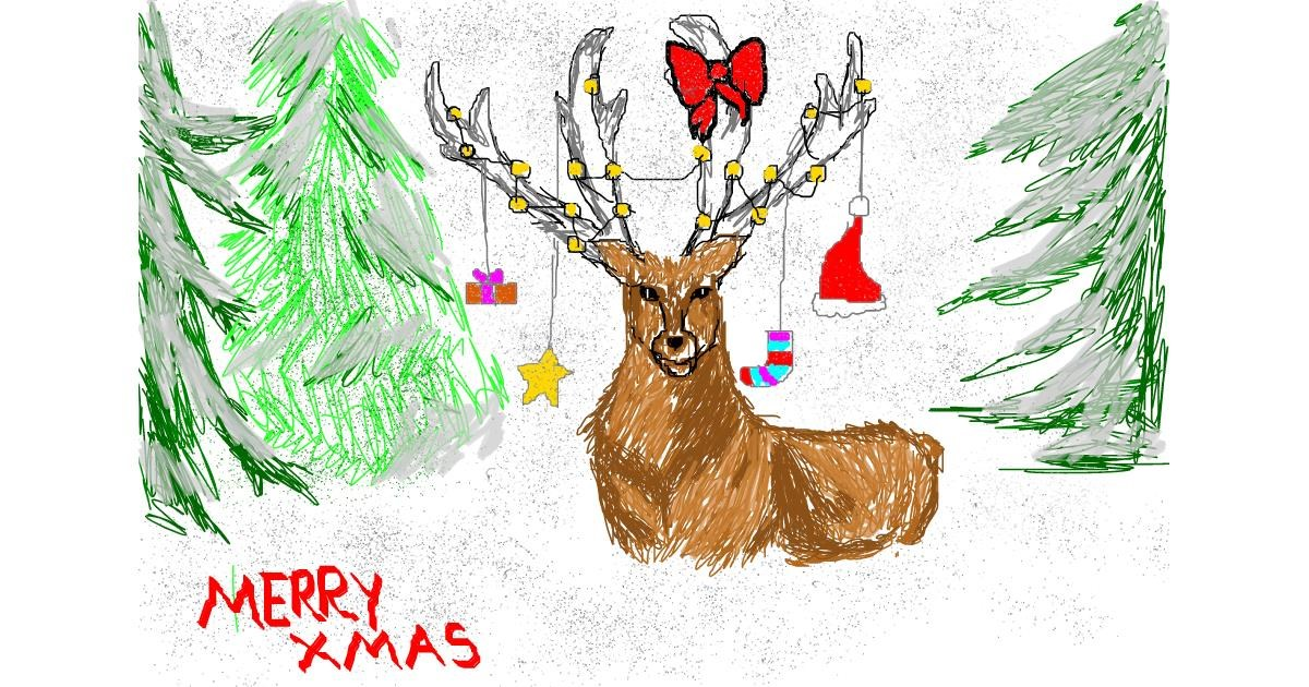 Drawing of Reindeer by christine
