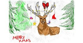 Reindeer drawing by christine