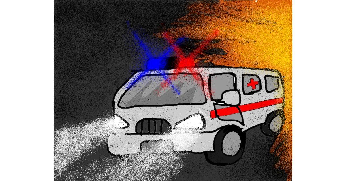 Ambulance drawing by Darta