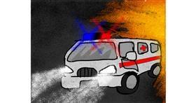 Drawing of Ambulance by Darta
