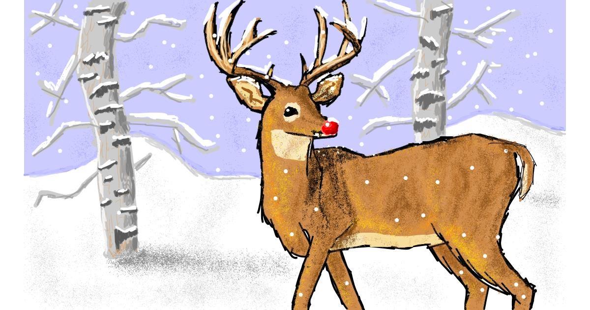 Drawing of Reindeer by Sam