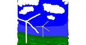 Windmill drawing by Fergie