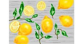 Lemon drawing by Kaddy