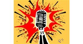 Drawing of Microphone by Eagle🦅🐬