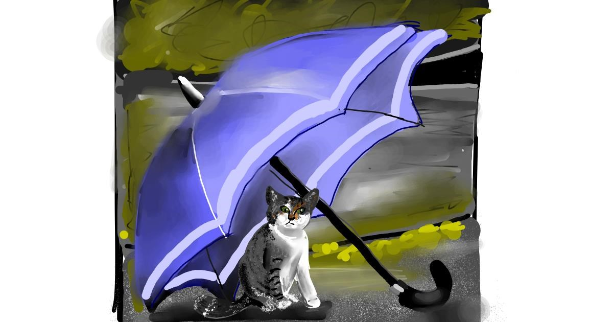 Umbrella drawing by Rose