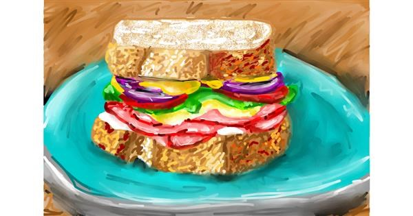 Sandwich drawing by Soaring Sunshine