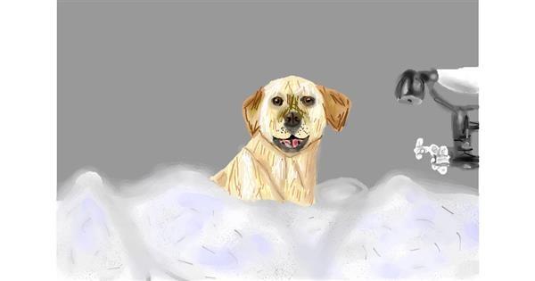 Bathtub drawing by Sunshine