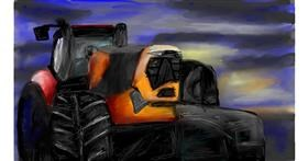 Tractor drawing by Soaring Sunshine