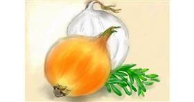 Onion drawing by Debidolittle
