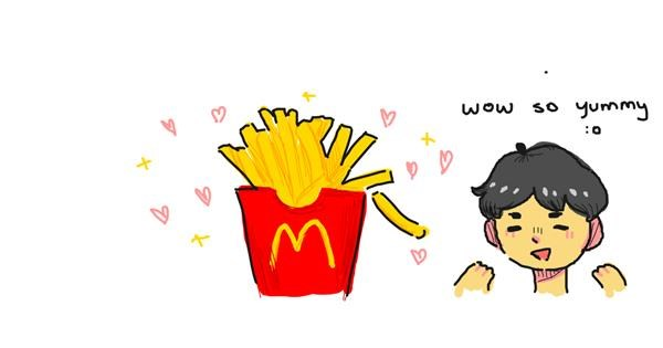 French fries drawing by what