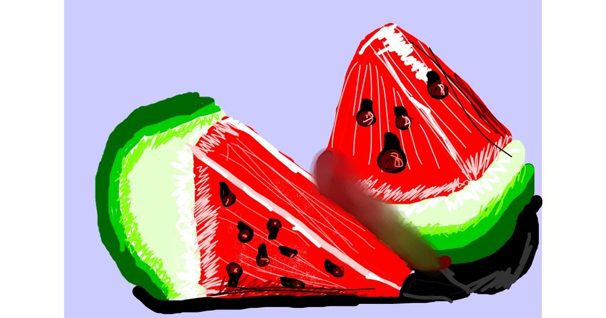 Watermelon drawing by 💕Mia Cat💕