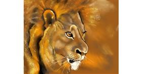 Drawing of Lion by Cec