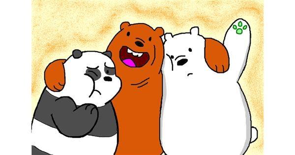 Panda drawing by InessaC