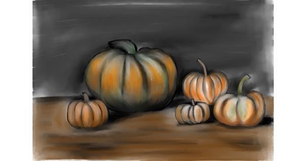 Pumpkin drawing by Jan