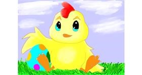Easter chick drawing by Data