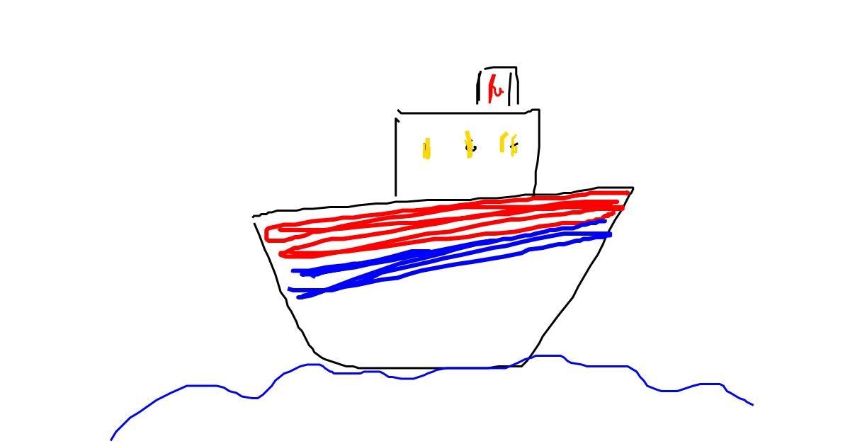 Boat drawing by Marina🥃