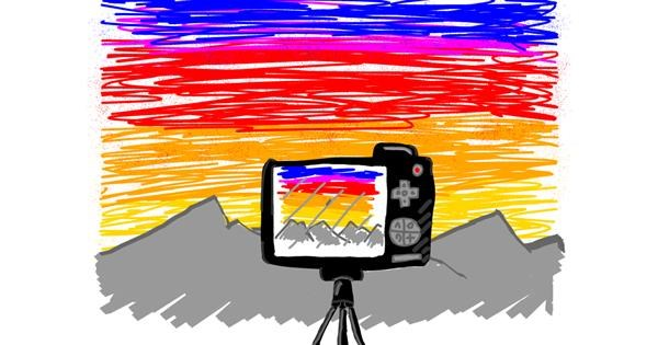 Camera drawing by Otter