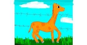 Giraffe drawing by Data