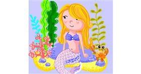 Mermaid drawing by Geo-Pebbles