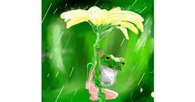 Frog drawing by Nru