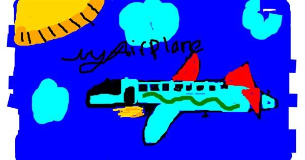Airplane drawing by jazzy101:D