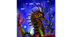 Seahorse drawing by Leah