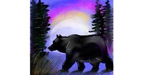 Polar Bear drawing by Zeemal