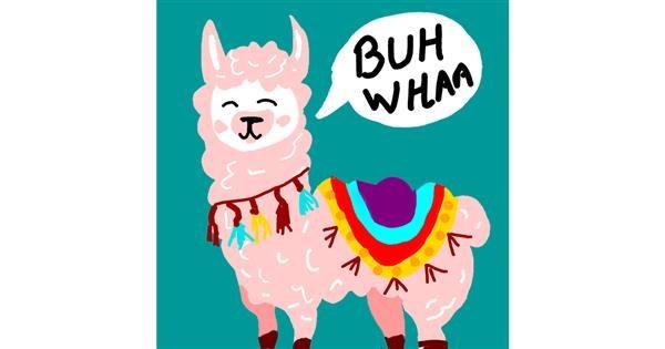 Llama drawing by Dee💗
