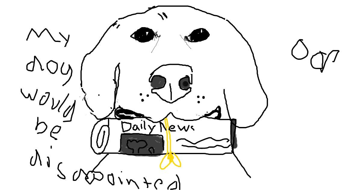Drawing of Newspaper by BRODY SMELLS