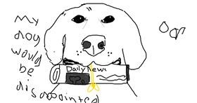Newspaper drawing by BRODY SMELLS