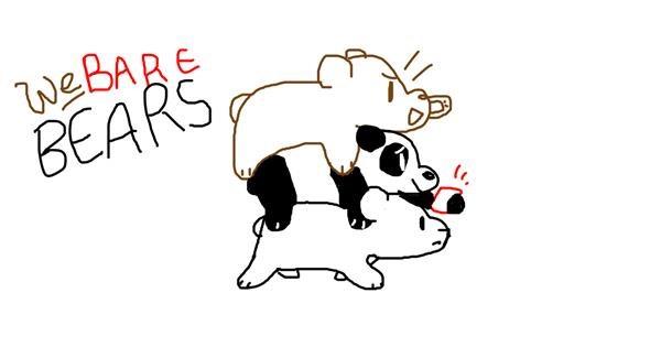 Bear drawing by Purple Hawk