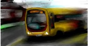 Drawing of Bus by Soaring Sunshine