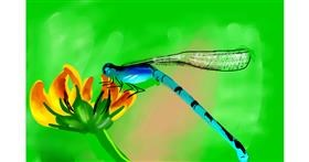 Dragonfly drawing by Rose rocket