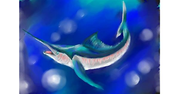 Swordfish drawing by luis
