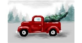 Truck drawing by MINNA