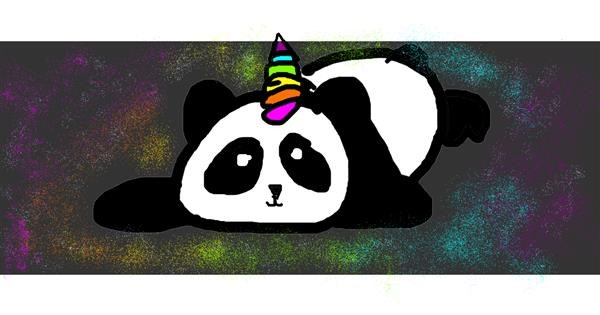 Panda drawing by Mary