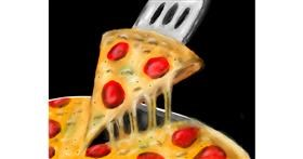 Drawing of Pizza by ELLE