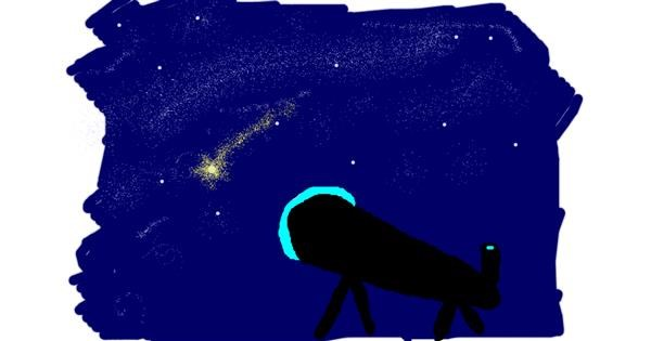Telescope drawing by mary